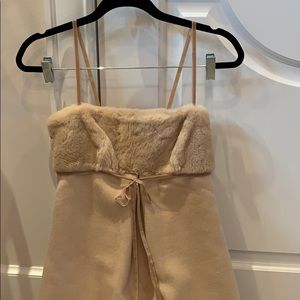 Real Camel (soft as cashmere) and fur long dress